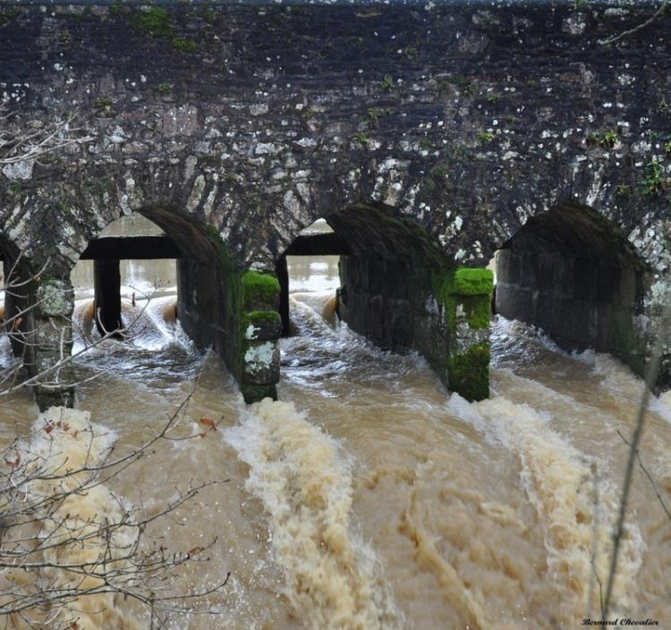 Crue au pont Romain_2013-07.1